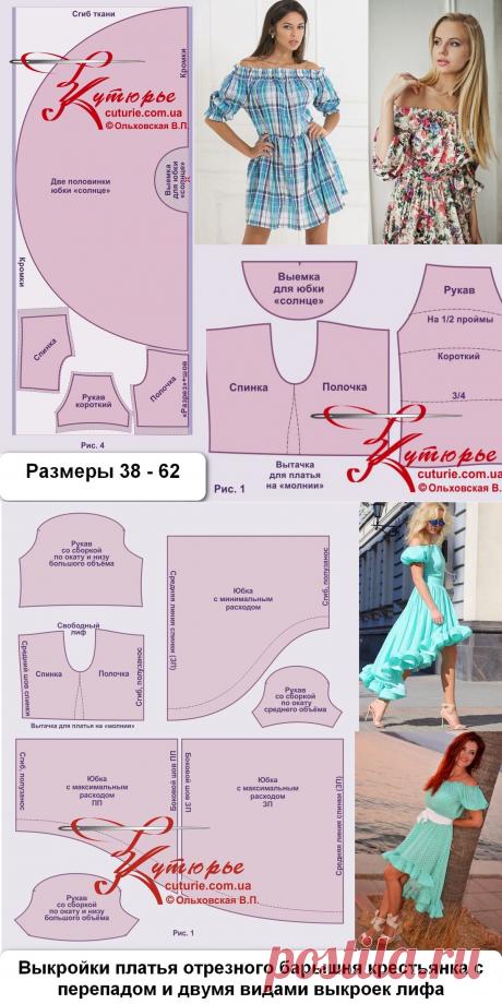 Три выкройки по которым можно сшить платье, как на фото | Шьем с Верой Ольховской | Яндекс Дзен