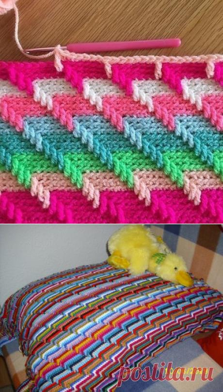 Разноцветный узор крючком из категории Интересные идеи – Вязаные идеи, идеи для вязания