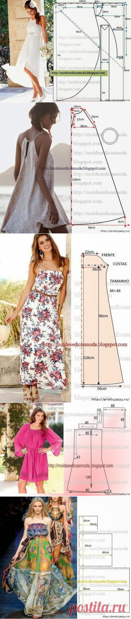 Los vestidos veraniegos — el patrón para todos los gustos (la Costura y el corte) | la Revista la Inspiración de la Laborera