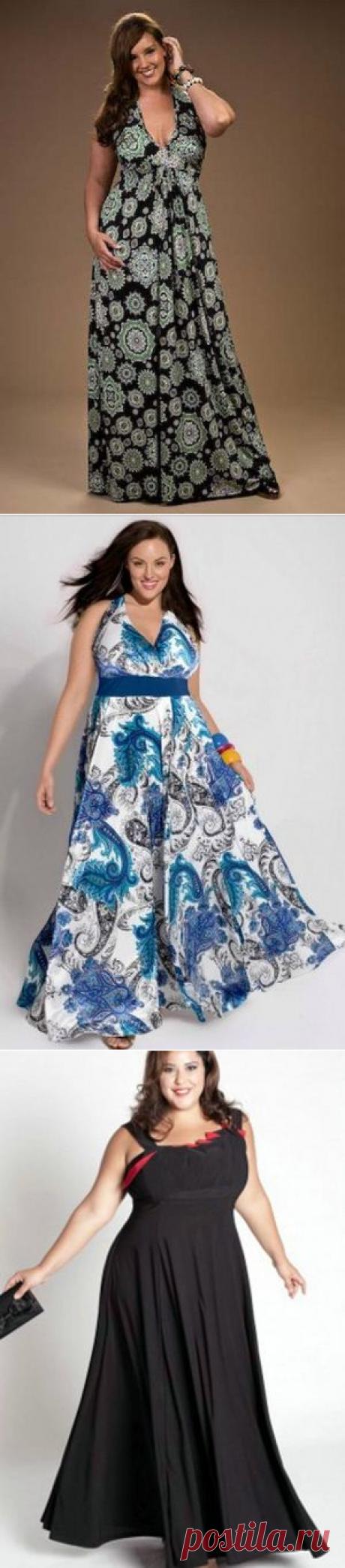 Округлость форм, свежесть и очарование полных женщин подчеркнут летние платья большого размера