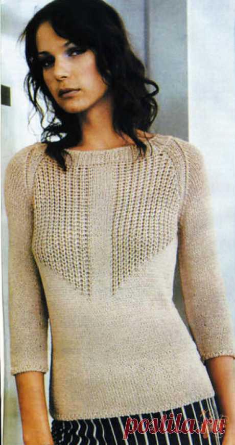 Пуловер - просто и изысканно