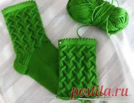 Носки спицами с описанием, схемой вязания, видео МК, на все размеры - Все о вязании