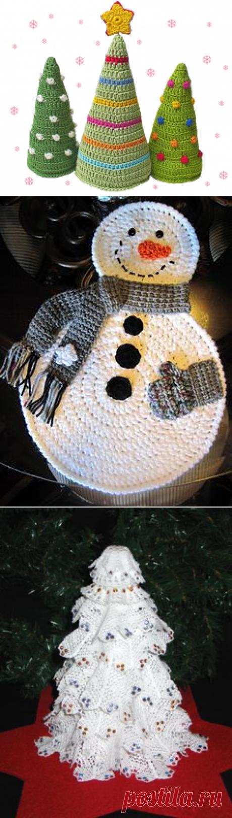 Новогодние идеи для вязания крючком