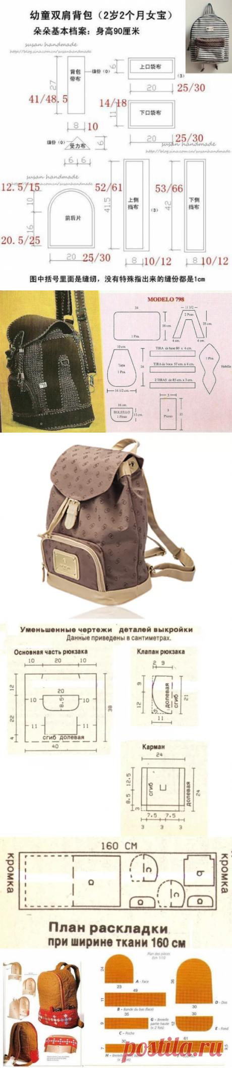 Рюкзак для подростка, а может для бабушки? Уникальная сумка на любой возраст - выкройки и шаблоны!   Юлия Жданова   Яндекс Дзен