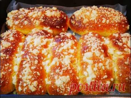 БУЛОЧКИ рецепт ПЫШНЫЕ домашние булочки с посыпкой ДОМАШНЯЯ выпечка рецепт