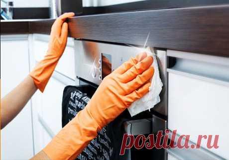 Как отмыть плиту быстро и легко