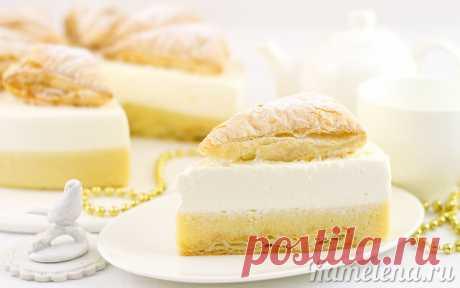 Торт «Яблочный мусс со сливками»