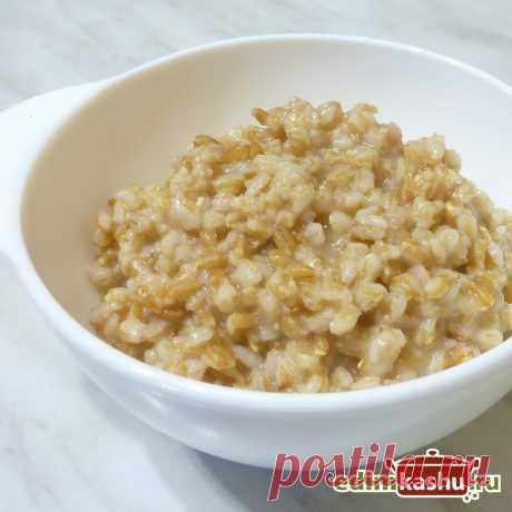 Мягкая нежная каша из цельной полбы.  Простой рецепт вкусной и сытной полбяной каши из цельного зерна, готовящейся на воде.