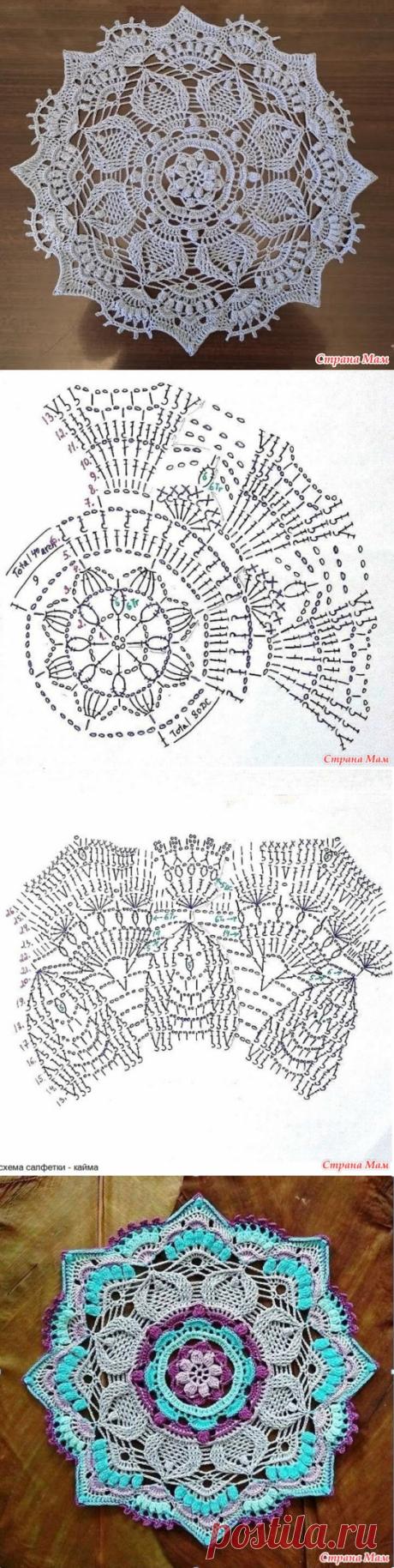Круглая салфетка крючком - Вязание - Страна Мам