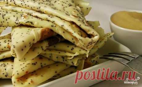 Блины с маком - пошаговый рецепт с фото на Повар.ру
