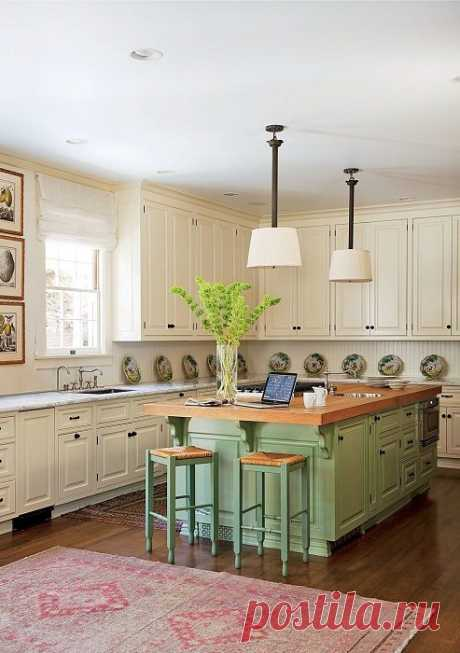 Colored complete kitchens — our houses