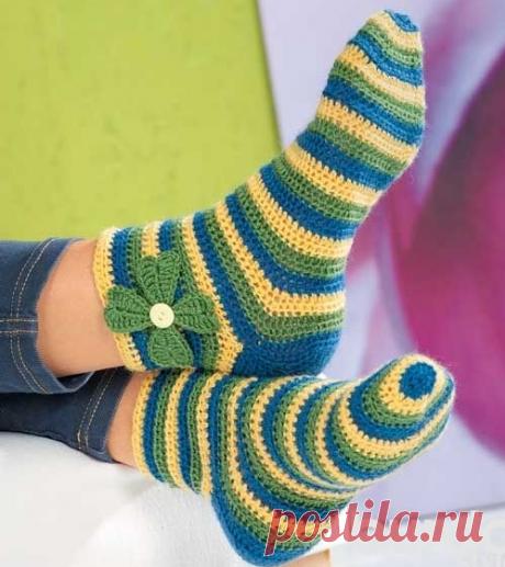 Носки. Вязание крючком   Марусино рукоделие   Яндекс Дзен