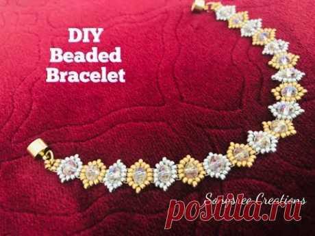 Valentines Bracelet . DIY beaded bracelet.How to make beaded bracelet