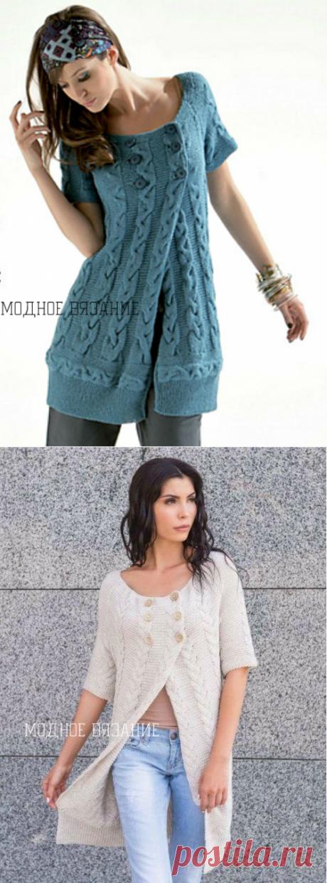 Жилет *Косы вдоль и поперек* от Cheval Blank - Модное вязание