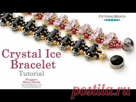 Crystal Ice Bracelet - DIY Jewelry Making Tutorial by PotomacBeads