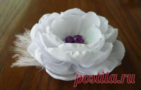 Роза. Цветы из ткани. МК.