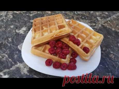 Вафли на сметане - самый лучший рецепт приготовления вафель! - YouTube