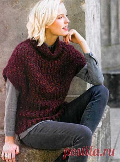 Базовый пуловер без рукавов