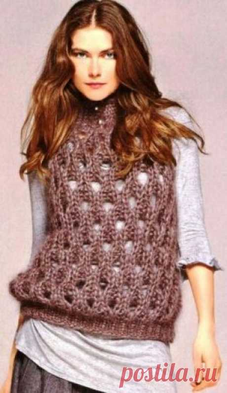 Knitted vests spokes