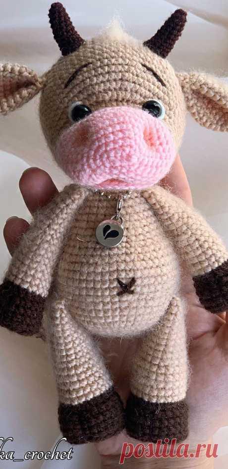 PDF Бычок Тимошка крючком. FREE crochet pattern; Аmigurumi animal patterns. Амигуруми схемы и описания на русском. Вязаные игрушки и поделки своими руками #amimore - корова, коровка, телёнок, бык, бычок.