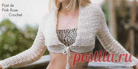 Bolero Crochet. Bolero schemes   Лаборатория домашнего хозяйства