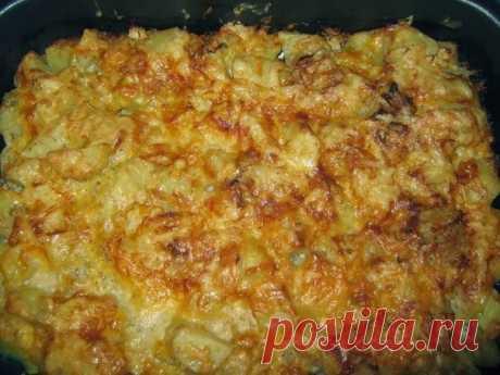 Картошка запеченная в кефире под сыром...