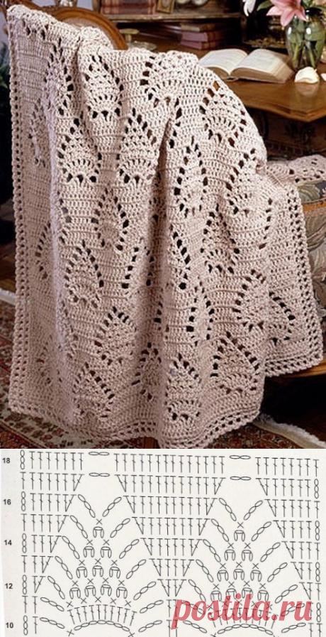 Knit crochet blanket. Pattern for rug | Вязание для всей семьи