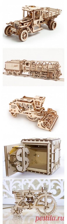 Купить деревянные механические конструкторы UGEARS