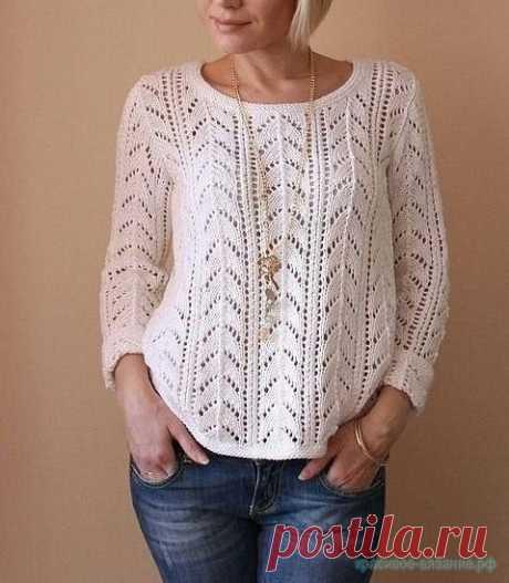 Вяжем пуловер спицами Схема вязания пуловера спицами