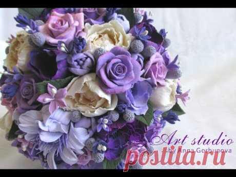 Цветок из полимерной глины, для начинающих от Анны Горбуновой