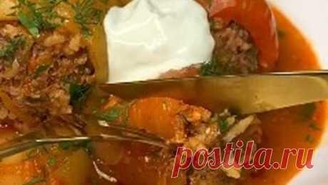 Вкуснейшие фаршированные перчики🔥 Все полюбят это блюдо!🔥👌