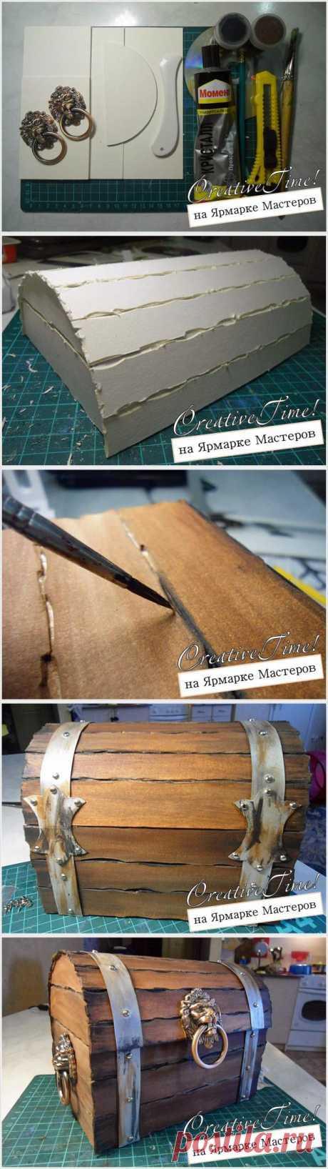 Создание пиратского сундука сокровищ - Ярмарка Мастеров - ручная работа, handmade