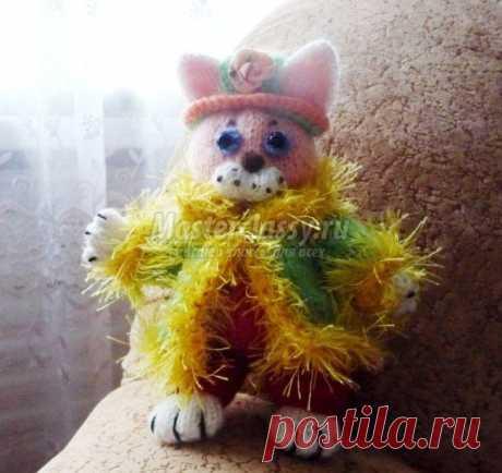 Авторский вязаный кот. Мастер-класс с пошаговыми фото.