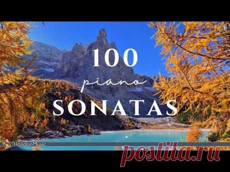 100 Classical Piano Sonatas: Mozart, Beethoven, Chopin...