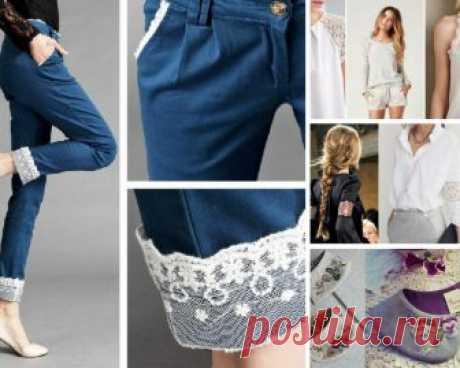 Женственное кружево: 37 идей декора для блузок и рубашек. Красота в деталях!