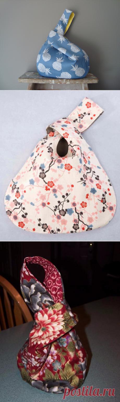 Шьем удобную японскую сумку-узелок. Мастер-класс