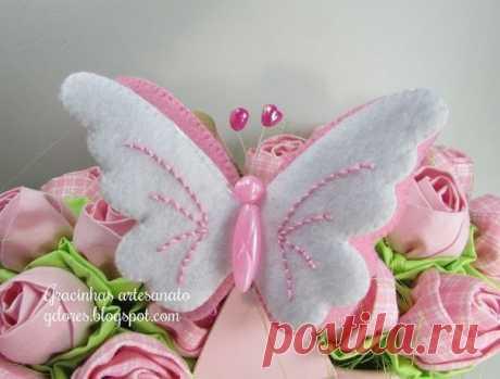 Бабочки из фетра | Дизайн ручной работы