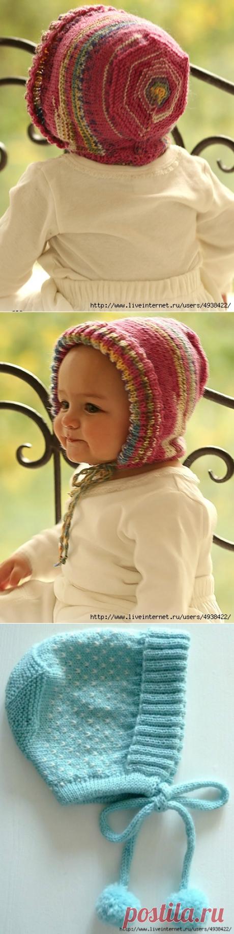 Очаровательный чепчик спицами из тонкой шерстяной пряжи. Little Miss by DROPS design.