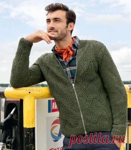 Жакет для мужчин спицами, 25 моделей со схемами и описанием, Вязание для мужчин