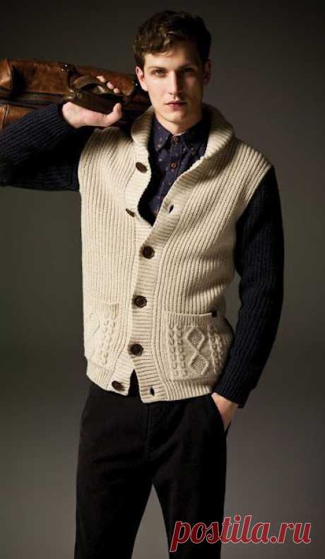24 Chalecos tejidos para caballeros de todas las edades   Tejedoras.es