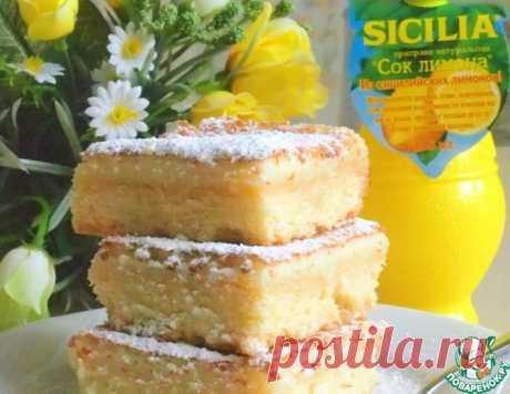 Песочно-лимонные квадратики – кулинарный рецепт