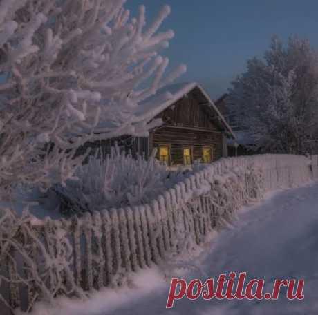Зимний вечер... Чудесное фото!