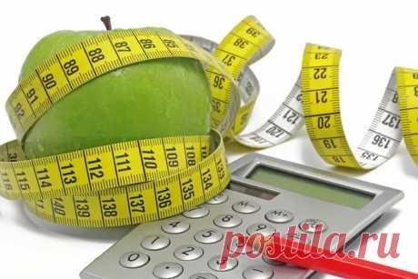 Расчет нормы калорий в день для похудения