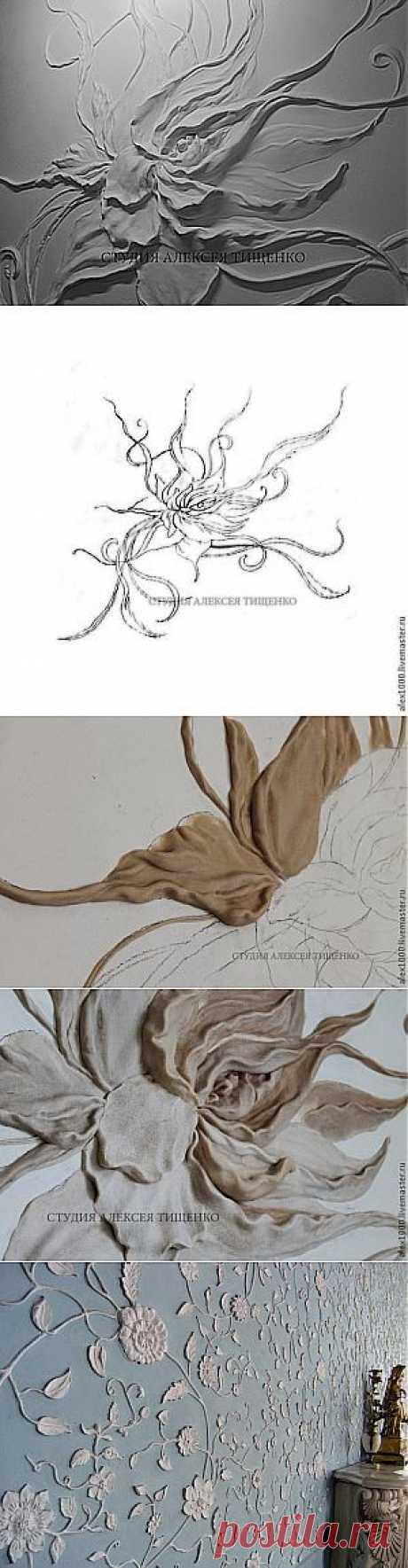 """Барельеф """"Цветок"""" - Ярмарка Мастеров - ручная работа, handmade"""