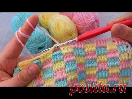 Bu Modele Bayılacaksınız Kolay Tığ İşi Amazing Easy Blanket Crochet Çift Taraflı Örgü Battaniye