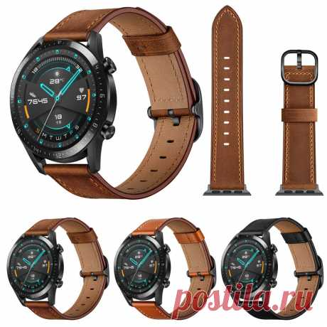 Bakeey 22mm First Layer Genuine Leather Replacement Strap Smart Watch Band for H - US$13.99