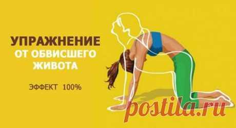 Упражнение от обвисшего живота, просто бомба, помогает на 100% Упражнение 1 Глубоко вдохните животом, максимально выпячивая брюшную стенку. Раз, два, три,...