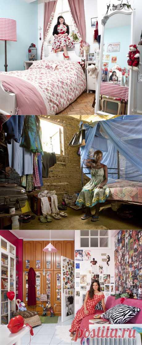 Женские спальни по всему миру. - добавил(а) irina hanna на ХОУМ - всё в дом, всё в семью