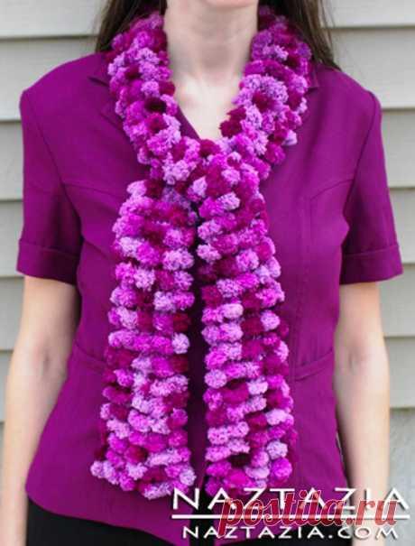 Интересный прием вязания с с пряжей Pom Pom — DIYIdeas