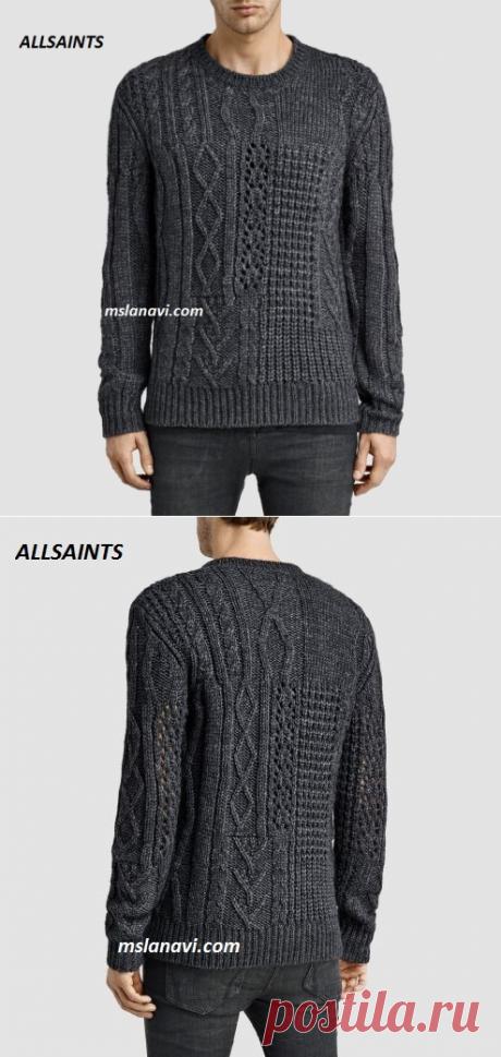 Мужской вязаный пуловер | Вяжем с Лана Ви